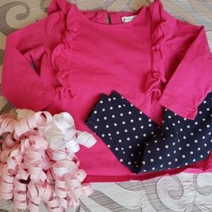 💞Ralph Lauren Ruffle Top with Polka Dot Pants 💞